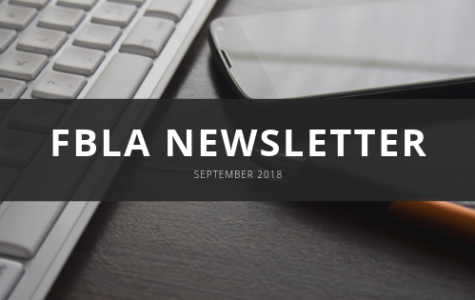 FBLA Monthly Newsletter – September 2018