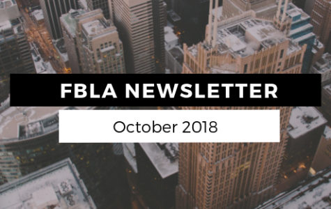 FBLA Monthly Newsletter – October 2018
