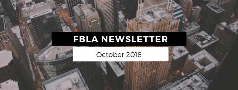FBLA Monthly Newsletter – October 2018
