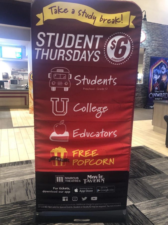 Banner Advertisement for Marcus' Student Thursdays Deal