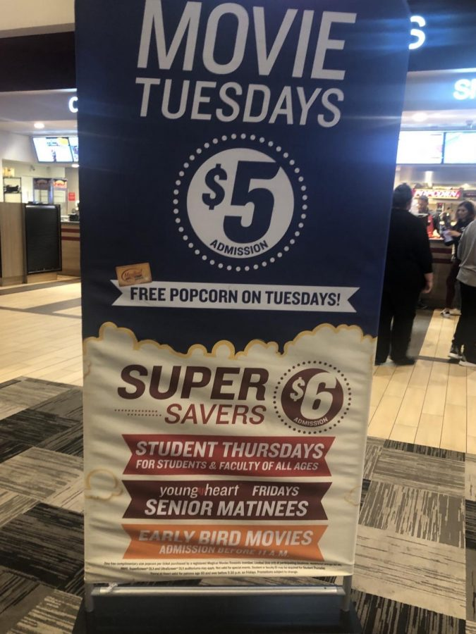 Banner Advertisement for Marcus' Movie Tuesdays Deal