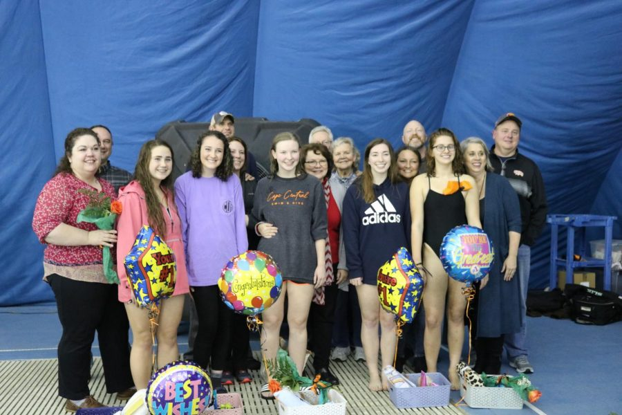 Girls Swimming and Diving Senior Night