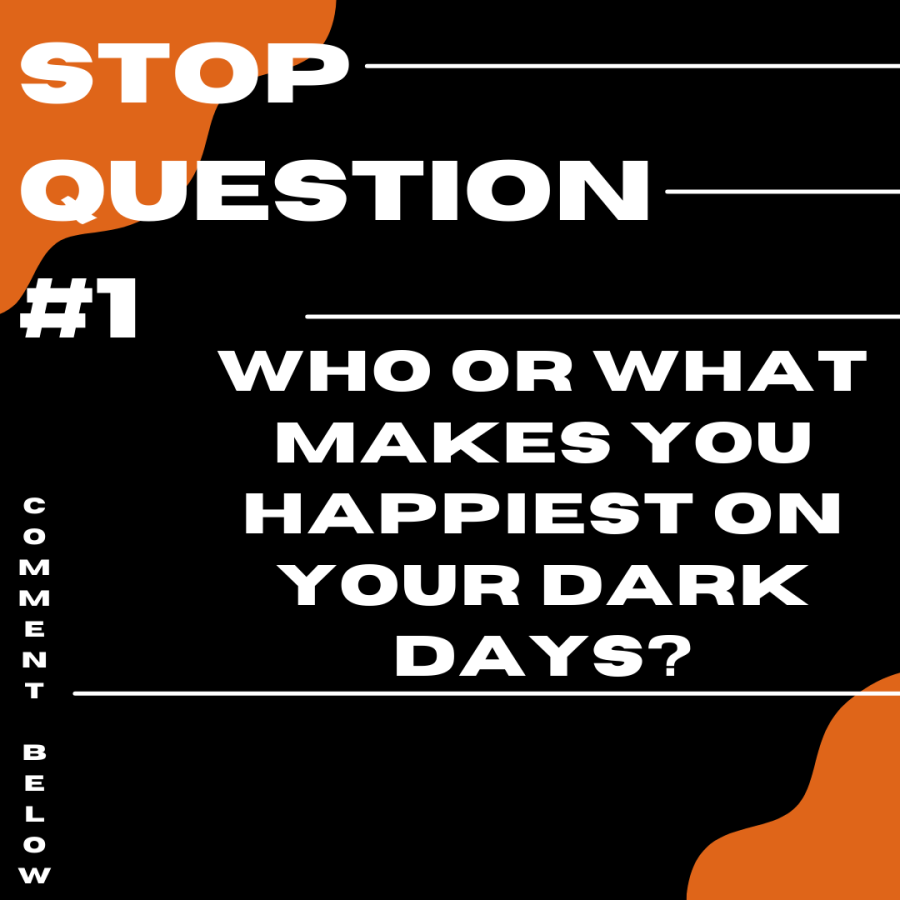 STOP Question #1 - Who or what makes you happiest on your dark days?